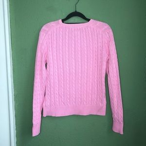 Lilly Pulitzer Sweaters - Lilly Pulitzer Pink Cable Knit Sweater Size M